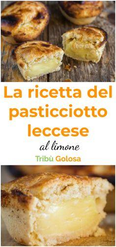 Questo dolcetto tipico di #lecce e del #salento in generale, viene qui proposto in una versione aromatizzata al #limone che vi lascerà a bocca aperta per il suo gusto ed il profumo indescrivibile.   #pasticciottoleccese #pasticciotto #tribugolosa #gourmettribe #golosiditalia #cucina #cucinaitaliana #cucinare #italianrecipes #food #italianfood #foodstyling #yummy #foodlover #ricette #recipe #homemade #delicious #ricettefacili Italian Desserts, Mini Desserts, Italian Recipes, Yummy Food, Tasty, Pie Cake, Sugar And Spice, Afternoon Tea, Finger Foods