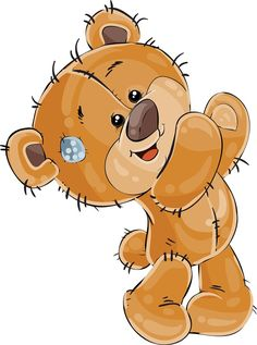 Bear Clipart, Cute Clipart, Brown Teddy Bear, Cute Teddy Bears, Tatty Teddy, Pictures To Draw, Cute Pictures, Teddy Bear Pictures, Blue Nose Friends