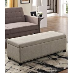 Simpli Home Kingsley Leather Storage Ottoman Bench   3AXCOT 240 BL |  Products | Pinterest