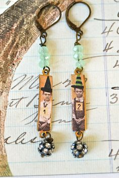 #upcycled earrings love it! must try! #ecrafty