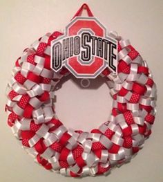 Ohio State ribbon wreath  12 by Jublulations on Etsy