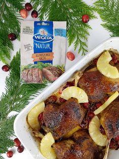 Pieczone udka kaczki | AniaGotuje.pl Cheesesteak, Ethnic Recipes, Food, Essen, Meals, Yemek, Eten