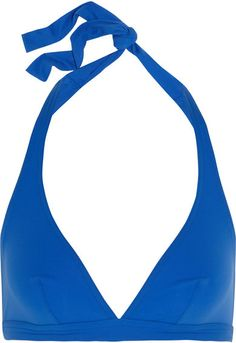 Eres - Co2 Halterneck Triangle Bikini Top - Azure