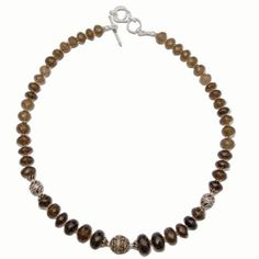 Amazon.com: India Jewelry Smoky Quartz Gemstone Necklace Chains for Women 18 Inches: Furniture & Decor