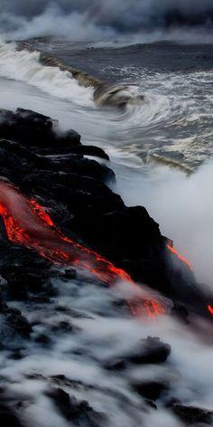 Volcano lava, Kilauea, Hawaii