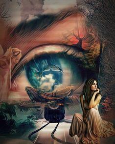 Pretty Eyes, Cool Eyes, Beautiful Eyes, Surreal Photos, Surreal Art, Beautiful Fantasy Art, Beautiful Artwork, Trippy Eye, Eyes Artwork