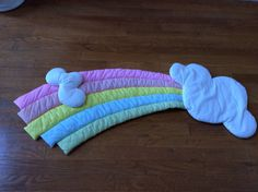 Vintage Pastel Rainbow and Clouds Wall Hanging https://www.etsy.com/shop/AmeliaBabble