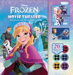 Frozen Movie Theatre Storybook - Comes with movie projector and book.