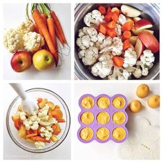Healthy Apple, cauliflower & carrot baby purée - homemade babyfood