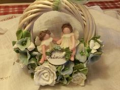 Immagine Porcelain Jewelry, Fine Porcelain, Christmas Clay, Xmas, Garden Seating, Decoration, Shapes, Antiques, Painting