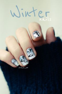 Super cute! winter nails with Cirque colors