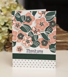 Thank You Card by Ashley Cannon Newell for Papertrey Ink (December 2013)