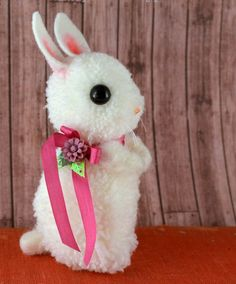 Darling Pompom Easter Bunny by Kira Nichols from Oops I Craft My Pants - Diy and Crafts Mix Cute Crafts, Craft Stick Crafts, Crafts To Do, Yarn Crafts, Crafts For Kids, Easter Projects, Easter Crafts, Holiday Crafts, Pom Pom Animals
