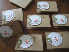Handmade Christmas Cards Rustic Snowman Let it Snow by GrammyandMe, #creative handmade #diy decorating ideas #do it yourself  http://flower-arrangement-sam.blogspot.com