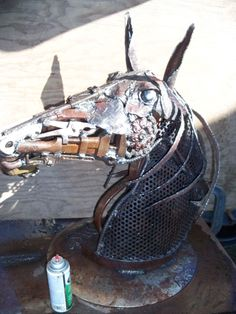 untitled..made by N.Idaho artist Mark Olmstead of Post Falls, Idaho..made from all recycled scrap metal materials...