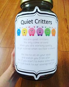 Not unlike the desk fairy, another whimsical way to keep students quiet during work time. Students love being in charge of something, and feeling protective over their quiet critters will foster that growth mindset. Not unlike the desk fairy First Grade Classroom, Classroom Setting, Future Classroom, Classroom Behavior Management, Classroom Organisation, Behaviour Management, Classroom Expectations, Quiet Critters, Material Didático