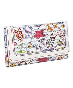 This White Sunny Days Wallet by Sydney Love is perfect! #zulilyfinds