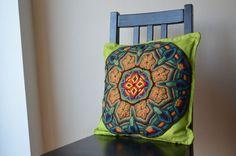 Mandala overlay crochet pillowcase by LillaBjornCrochet on Etsy, $35.00