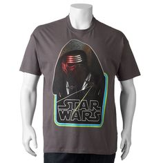 Big & Tall Star Wars: Episode VII The Force Awakens Hooded Champ Tee, Men's, Size: Xl Tall, Grey (Charcoal)