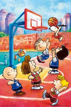 Hoops by Snoopy & Co. Snoopy Cartoon, Snoopy Comics, Peanuts Cartoon, Peanuts Movie, Peanuts Characters, Peanuts Snoopy, Meu Amigo Charlie Brown, Charlie Brown And Snoopy, Snoopy Love