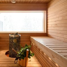I would like a big window in my sauna