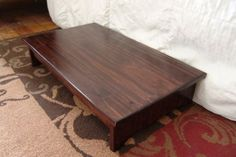 Handcrafted Heavy Duty Step Stool Solid Wood Bedside Bed Wooden