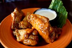 Chicken wings from Fitter's Fifth Street Pub in Sedalia, MO. Get them plain or smother them in your favorite sauce!