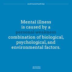 Mental Health Awareness Day, Mental Health Day, Mental Health Problems, Environmental Factors, Mental Illness, Psychology, Sayings, Psicologia, Lyrics