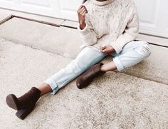cable knit turtle neck #sweater