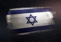 Grunge, Chevrolet Logo, Metal, Israel Flag, Dark, Wall, Texture, Ink, Metals