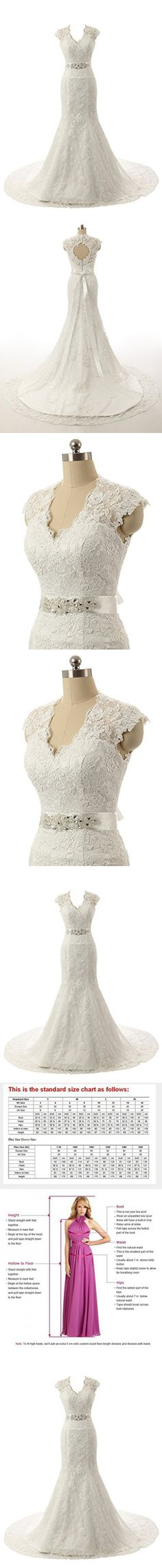 Ubridal Real Pictures Embroidery Lace Mermaid Court Wedding Dresses Bridal Gowns ivory 26W