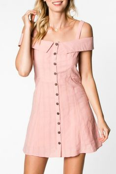 Everly Button Down Dress - Main Image Simple Dresses, Cute Dresses, Casual Dresses, Casual Outfits, Cute Outfits, Fashion Outfits, Fashion Women, Diy Dress, Shirt Dress