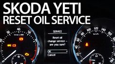 How to #reset oil change #service #reminder in #Skoda #Yeti #cars #maintenance
