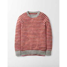Boden Schlichter Pullover mit Rundhalsausschnitt Rot Jungen Boden