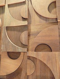 Wood Mosaic, Mosaic Wall, Wood Panel Walls, Wood Wall, Pms Colour, Wood Texture, Wall Decor, Interior, Puzzle