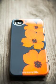 iPhone 5 Case  orange grey dogwood  iPhone 5 cover by TraceyCapone