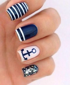 This nail art really stands out