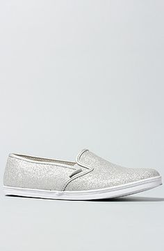 Vans Footwear The Slip On Lo Pro Sneaker in Silver Glitter : MissKL.com - Cutting Edge Women's Fashion, Accessories, Shoes & Beauty. The Originators. Shop. Party. Play.
