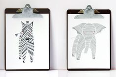 i shall be re-creating this for LeeLee's room ~ A Zebra and an Elly from Gingiber