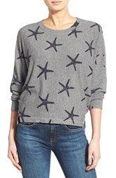 Sundry Starfish Print Pullover