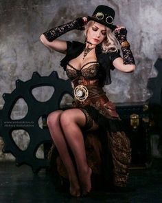 Steampunk Girl by Captain Irachka Steampunk Cosplay, Gothic Steampunk, Steampunk Fashion, Gothic Fashion, Steampunk Clothing, Victorian Gothic, Gothic Lolita, Gothic Trends, Steampunk Artwork
