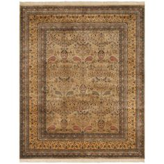 Safavieh Hand-knotted Ganges River Camel/ Gold Wool Rug (6' x 9') (GR402F-6), Brown, Size 6' x 9'