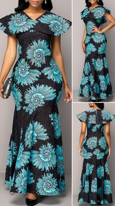 Best African Dresses, Latest African Fashion Dresses, African Print Fashion, African Attire, African Fashion Traditional, Africa Dress, Holiday Fashion, Fashion Fashion, Pretty Dresses