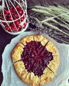 Cherry Galette Cherry, Pie, Desserts, Food, Torte, Tailgate Desserts, Cake, Deserts, Fruit Cakes