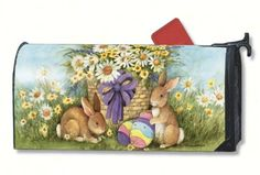 Decorative Garden Flags, Yard Flags, Mailbox covers and seasonal decorations from Discount Decorative Flags Rural Mailbox, Mailbox Accessories, Magnetic Mailbox Covers, Flag Decor, Bunny Rabbit, Easter Bunny, Vivid Colors, Nativity, Screen Printing