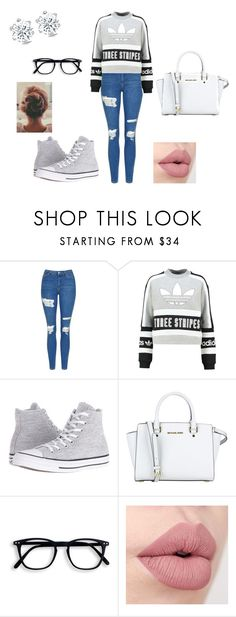 """""""Just giving vibes"""" by emmeliza on Polyvore featuring Topshop, adidas Originals, Converse and MICHAEL Michael Kors"""