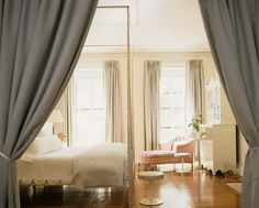 Lovely white bedroom: White paint + white furniture + hardwood floors, by Tom Scheerer   Flickr - Photo Sharing!