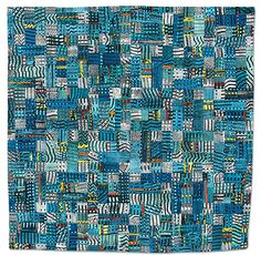 Units 9: Cityscape by Benedicte Caneill. 1st Prize — Pieced, Machine Quilted, Small.  2009 Empire Quilters Guild: Showcase