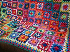 GRANNY SQUARES Blanket Bold Contemporary Crochet by Thesunroomuk
