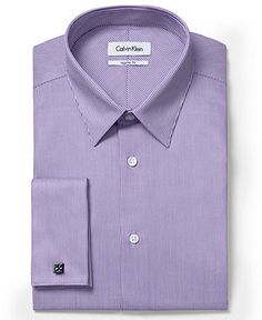 Calvin Klein Dress Shirt, Micro Stripe Shirt - Mens Dress Shirts - Macy's